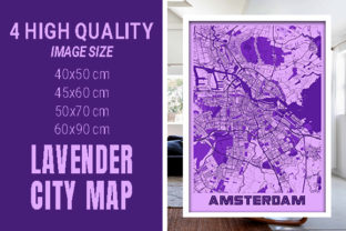 Amsterdam - Netherlands Lavender City Graphic Photos By pacitymap