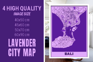 Bali - Indonesia Lavender City Map Graphic Photos By pacitymap