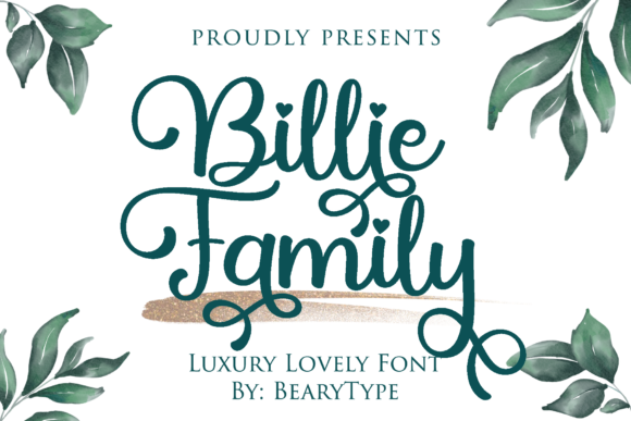 Print on Demand: Billie Family Script & Handwritten Font By LetterBeary