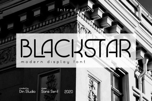Print on Demand: Blackstar Display Font By Din Studio