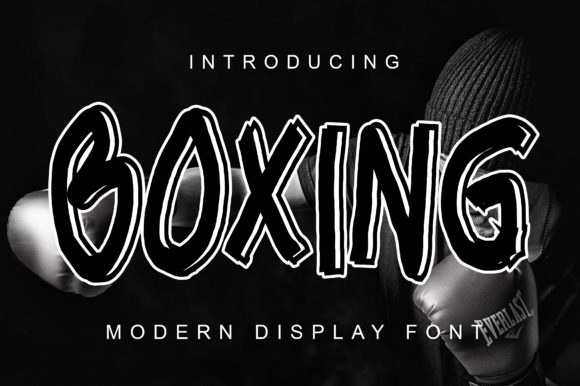 Print on Demand: Boxing Display Font By ABBAsalam