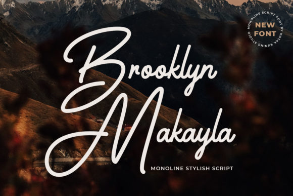 Print on Demand: Brooklyn Makayla Script & Handwritten Font By Kotak Kuning Studio