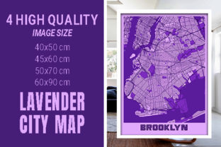 Brooklyn - United States Lavender City Graphic Photos By pacitymap