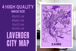Cairo - Egypt Lavender City Map Graphic Photos By pacitymap