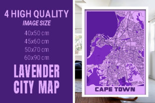 Cape Town - South Africa Lavender City Graphic Photos By pacitymap