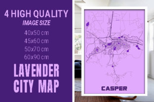 Casper - United States Lavender City Map Graphic Photos By pacitymap