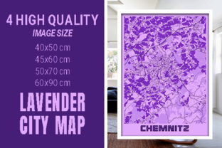 Chemnitz - Germany Lavender City Map Graphic Photos By pacitymap