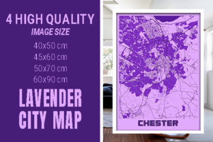 Chester - United Kingdom Lavender City Graphic Photos By pacitymap