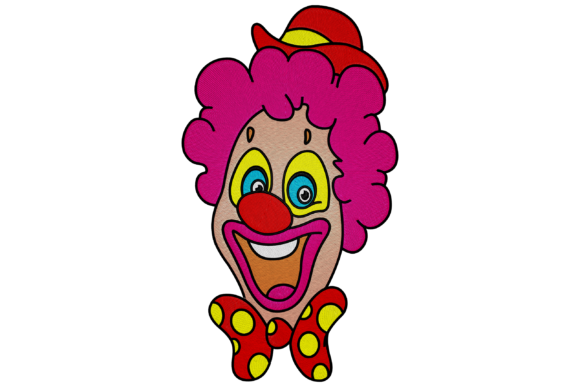 Clown Work & Occupation Embroidery Design By Digital Creations Art Studio