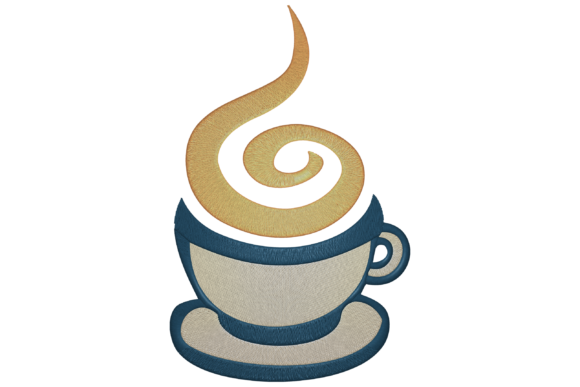 Coffee Cup Tea & Coffee Embroidery Design By Digital Creations Art Studio
