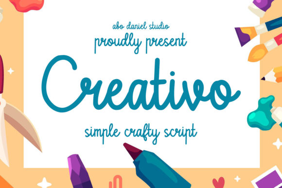 Print on Demand: Creativo Script & Handwritten Font By Abodaniel