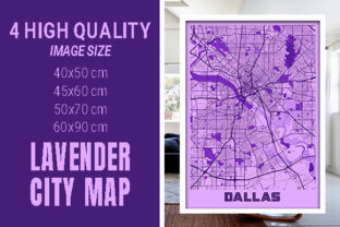 Dallas - United States Lavender City Map Graphic Photos By pacitymap