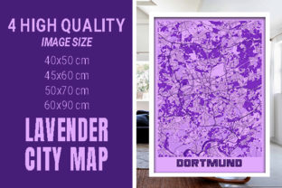 Dortmund - Germany Lavender City Map Graphic Photos By pacitymap