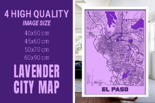 EL Paso - United States Lavender City Graphic Photos By pacitymap