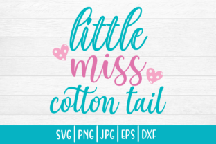 Print on Demand: Easter Little Miss Cotton Tail Graphic Print Templates By inlovewithkats