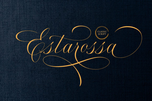 Print on Demand: Estarossa Script & Handwritten Font By letterhend
