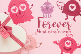 Forever Heart Monster Pack Graphic Illustrations By Firefly Designs