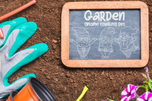 Garden Gnome Coloring Set Graphic Crafts By Firefly Designs