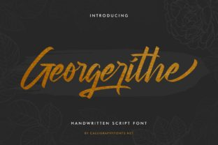 Print on Demand: Georgerithe Script & Handwritten Font By CalligraphyFonts