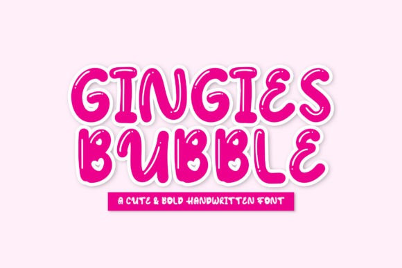 Print on Demand: Gingies Bubble Display Font By rometheme
