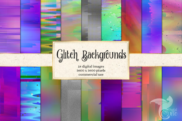 Print on Demand: Glitch Backgrounds Graphic Textures By Digital Curio