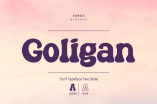 Print on Demand: Goligan Display Font By EKNOJI