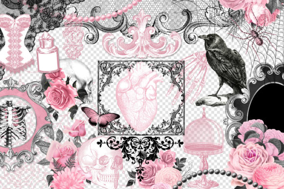 Gothic Love Clipart Graphic Download