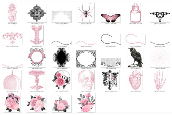 Gothic Love Clipart Graphic Item