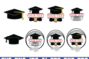 Print on Demand: Graduation Cap Monogram Graphic Illustrations By Sofiamastery