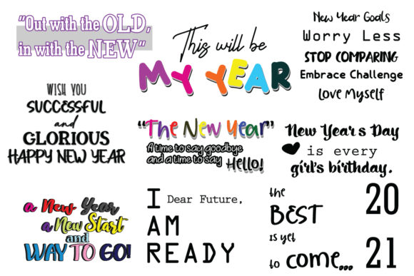 Happy New Year Motivation Quote SVG Cut Graphic Crafts By Yuhana Purwanti