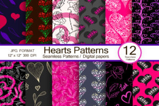 Hearts Patterns, Seamless Patterns Graphic Patterns By FolkStyleStudio