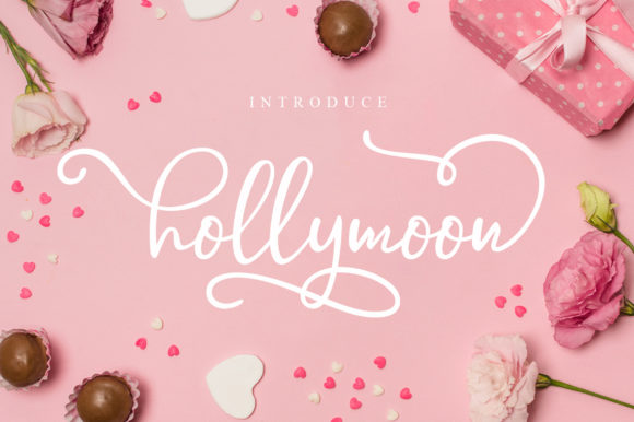 Print on Demand: Hollymoon Script & Handwritten Font By Nico Muslib