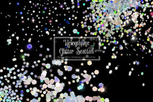 Print on Demand: Holographic Glitter Scatters Graphic Illustrations By Digital Curio