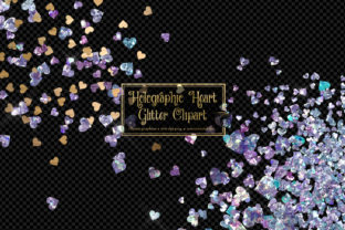 Print on Demand: Holographic Heart Glitter Graphic Illustrations By Digital Curio