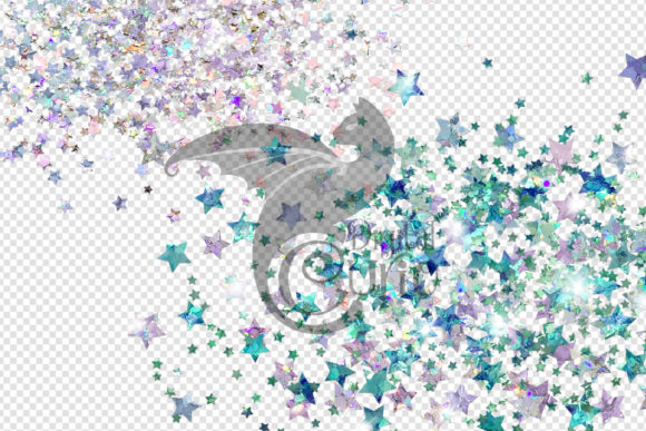 Holographic Star Glitter Clipart Graphic Item