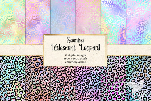 Print on Demand: Iridescent Leopard Digital Paper Graphic Textures By Digital Curio