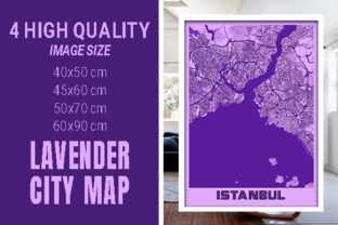 Istanbul - Turkey Lavender City Map Graphic Photos By pacitymap
