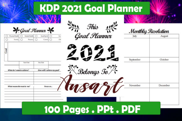 Print on Demand: KDP 2021 Goal Planner Graphic KDP Interiors By Ansart