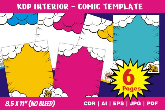Print on Demand: KDP Interior Comic Cover Template Graphic KDP Interiors By edywiyonopp