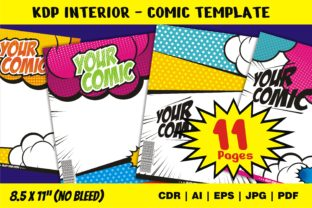Print on Demand: KDP Interior Comic Template Best Graphic Graphic KDP Interiors By edywiyonopp