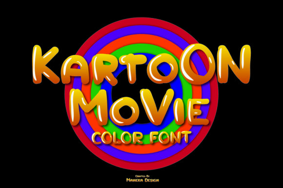 Print on Demand: Kartoon Movie Color Fonts Font By maneka