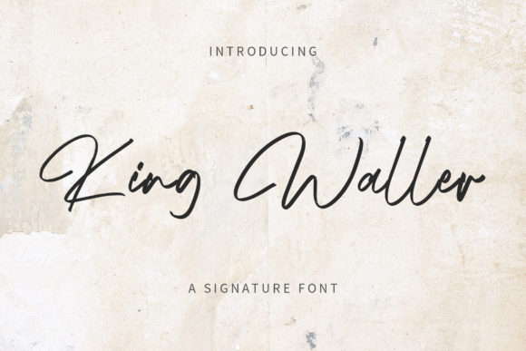 Print on Demand: King Waller Script & Handwritten Font By rometheme