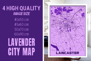 Lancaster - United States Lavender City Graphic Photos By pacitymap