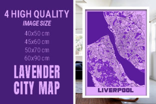 Liverpool - United Kingdom Lavender City Graphic Photos By pacitymap