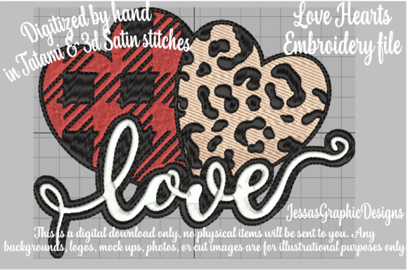 Love Hearts Embroidery Download