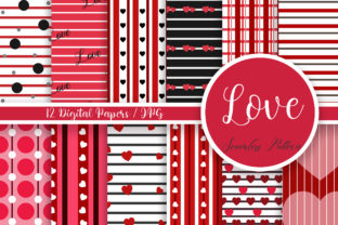 Print on Demand: Love Seamless Pattern Digital Papers Graphic Patterns By PinkPearly