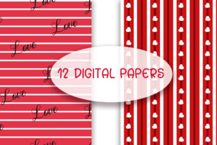 Print on Demand: Love Seamless Pattern Digital Papers Graphic Patterns By PinkPearly 2