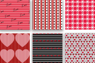 Print on Demand: Love Seamless Pattern Digital Papers Graphic Patterns By PinkPearly 4