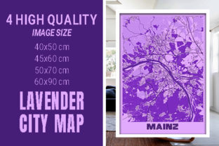 Mainz - Germany Lavender City Map Graphic Photos By pacitymap