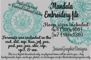 Print on Demand: Mandala Mandala Embroidery Design By JessasGraphicDesgins
